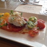 Burrata with fresh tomatoes